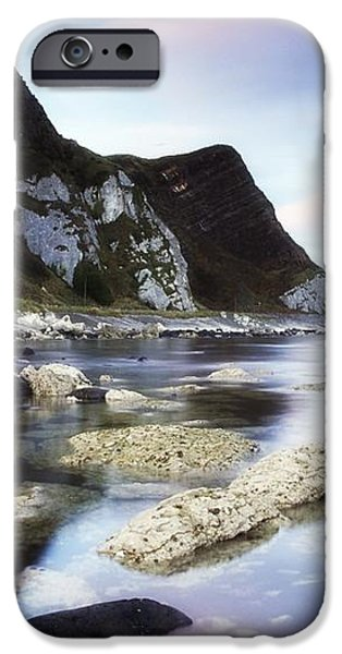 Coast Between Carnlough & Waterfoot, Co iPhone Case by The Irish Image Collection