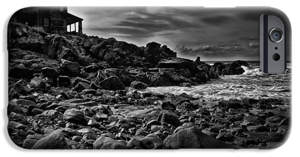 George Bush iPhone Cases - Coastal Home  Kennebunkport Maine iPhone Case by Bob Orsillo
