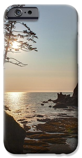 Oregon Coast iPhone Cases - Coastal Sunstar iPhone Case by Mike Reid