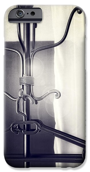 Coat Hanger iPhone Cases - Coat Rack iPhone Case by Joana Kruse