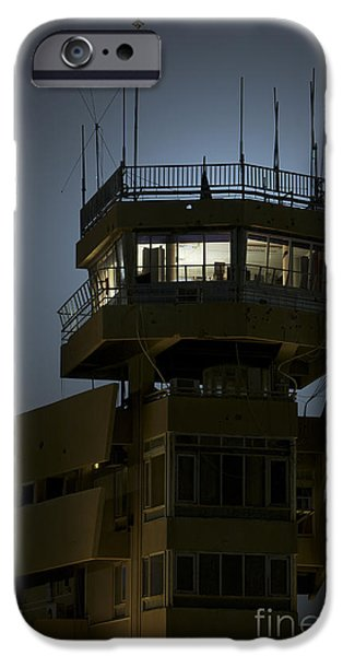 Traffic Control iPhone Cases - Cob Speicher Control Tower iPhone Case by Terry Moore