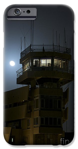 Traffic Control iPhone Cases - Cob Speicher Control Tower Under A Full iPhone Case by Terry Moore