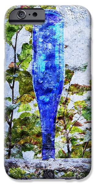 Cobalt Blue Bottle Triptych 1 of 3 iPhone Case by Andee Design