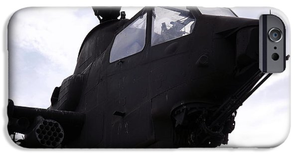 Vetran iPhone Cases - Cobra Attack Helicopter Close-up iPhone Case by Rose Santuci-Sofranko