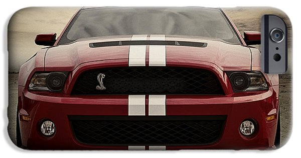 Stripes Digital Art iPhone Cases - Cobra Red iPhone Case by Douglas Pittman