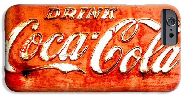 Amy Sorrell iPhone Cases - Coca Cola iPhone Case by Amy Sorrell