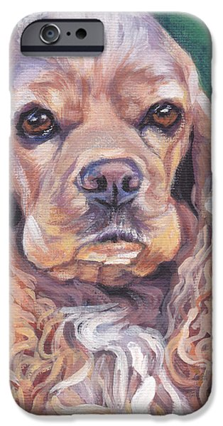 Cocker spaniel iPhone Case by Lee Ann Shepard