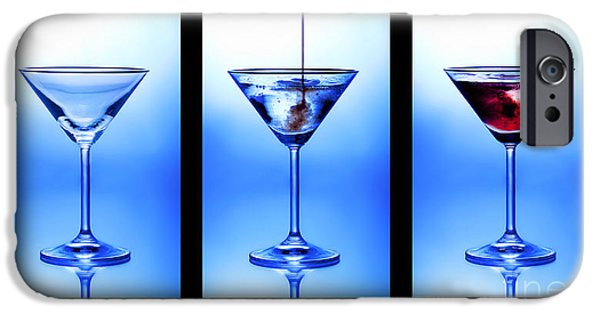 Nightclub iPhone Cases - Cocktail Triptych iPhone Case by Jane Rix