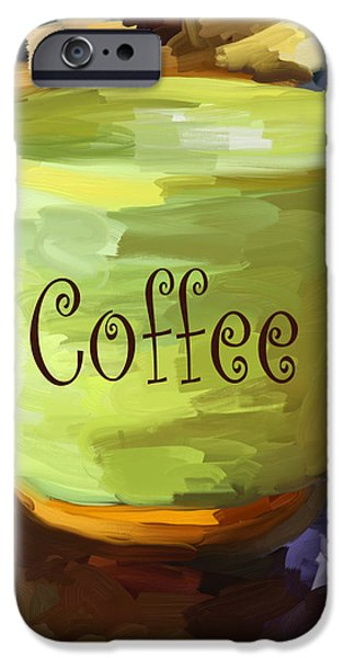 Coffee Cup iPhone Case by Jai Johnson