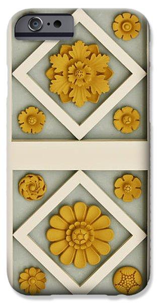 Coffered Ceiling Detail at Getty Villa iPhone Case by Teresa Mucha