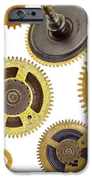 cogwheels - gears iPhone Case by Michal Boubin