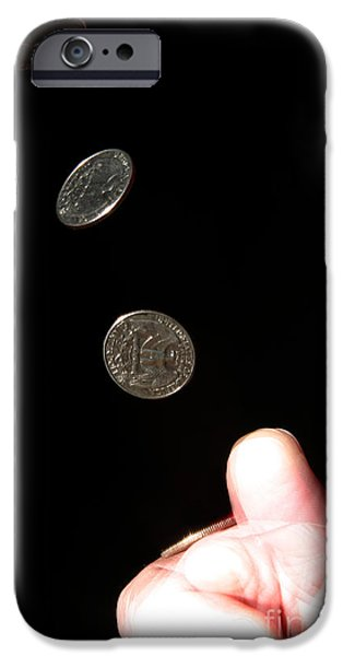 Coin Flipping iPhone Case by Ted Kinsman