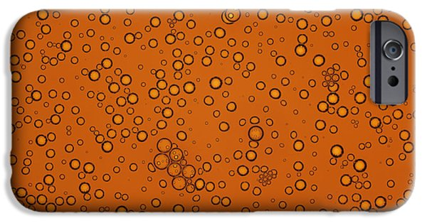 Effervescence iPhone Cases - Cola Bubbles iPhone Case by Kevin Curtis