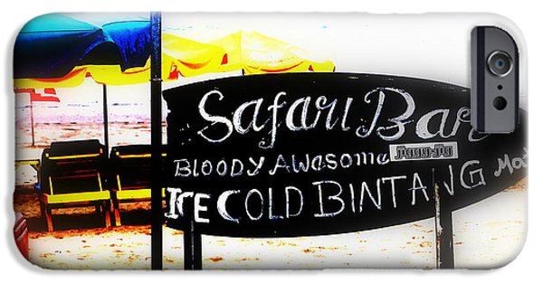 Abstract Digital Photographs iPhone Cases - Cold Bintang at the Safari Bar in Bali iPhone Case by Funkpix Photo Hunter