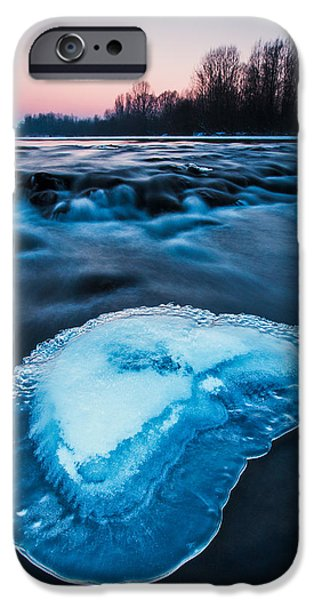 Cold blue iPhone Case by Davorin Mance