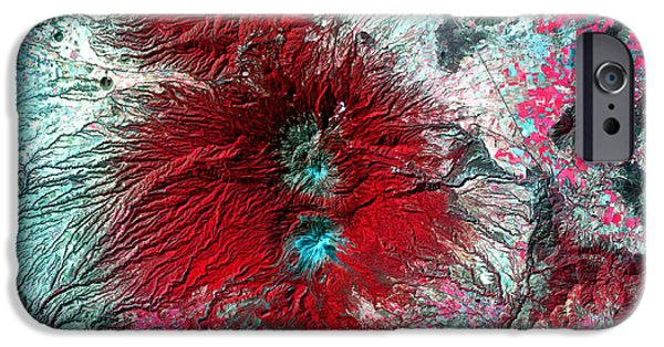 2000s iPhone Cases - Colima Volcano, Mexico iPhone Case by Nasa