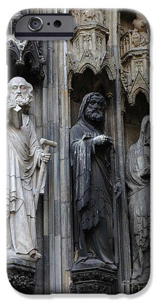Saint Christopher iPhone Cases - Cologne Cathedral Statues iPhone Case by Bob Christopher