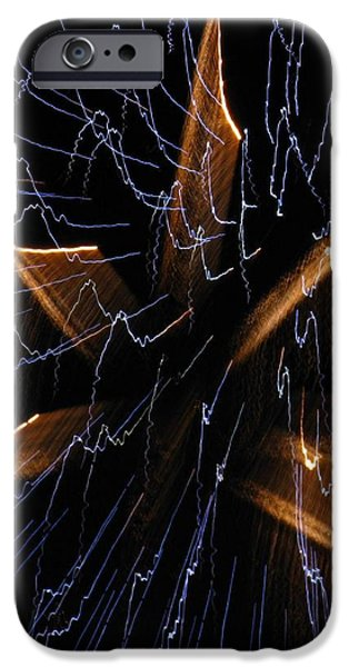 Color Me Electric iPhone Case by Rhonda Barrett