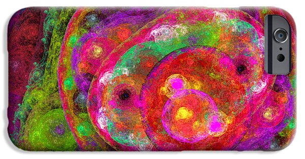 Abstract Digital iPhone Cases - Color My World iPhone Case by Andee Design