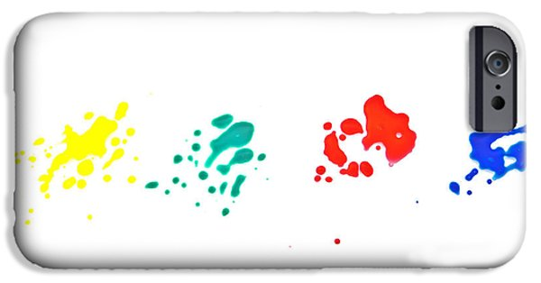 Color iPhone Cases - Color splash iPhone Case by Joana Kruse