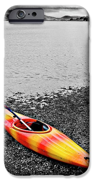 Kayak iPhone Cases - Color Splash iPhone Case by Meirion Matthias