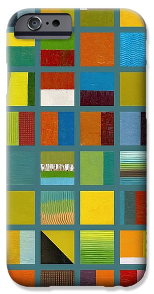 Color Study Collage 67 iPhone Case by Michelle Calkins