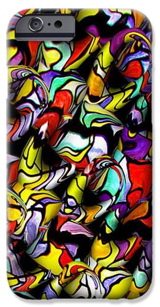 Abstract Forms iPhone Cases - Color Unfolds iPhone Case by Joan  Minchak