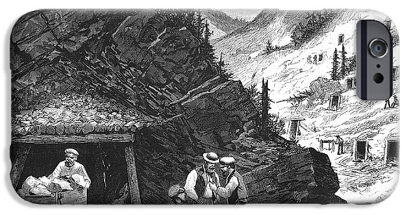 1874 iPhone Cases - Colorado: Mining, 1874 iPhone Case by Granger