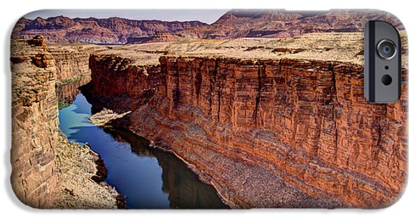 Northern Arizona iPhone Cases - Colorado River iPhone Case by Jon Berghoff