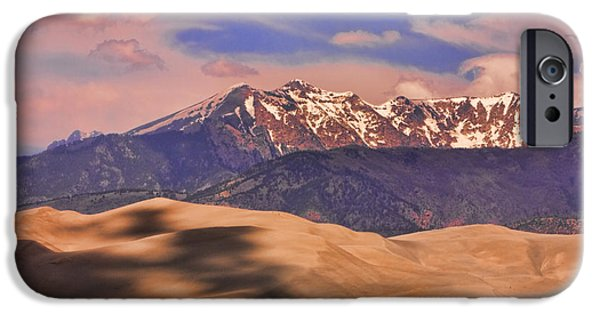The Lightning Man iPhone Cases - Colorados Great Sand Dunes Shadow of the Clouds iPhone Case by James BO  Insogna