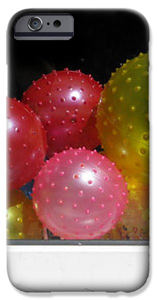Colorful Balls In The Shop Window iPhone Case by Ausra Paulauskaite