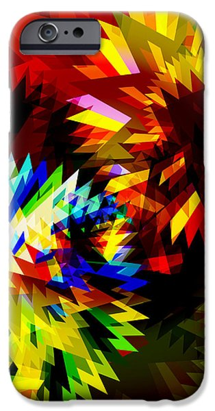 Machinery iPhone Cases - Colorful Blade iPhone Case by Atiketta Sangasaeng