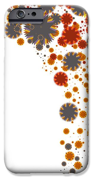 Rotate iPhone Cases - Colorful Blades iPhone Case by Atiketta Sangasaeng