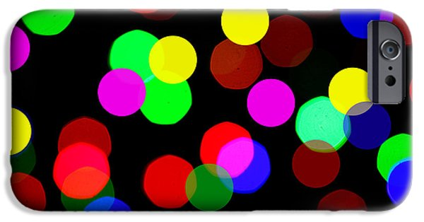 Bokceh iPhone Cases - Colorful Bokeh iPhone Case by Paul Ge