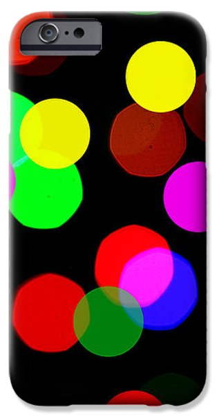 Colorful Bokeh iPhone Case by Paul Ge