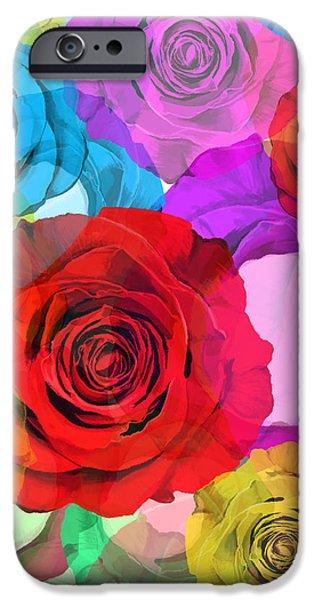 colorful floral design  iPhone Case by Setsiri Silapasuwanchai