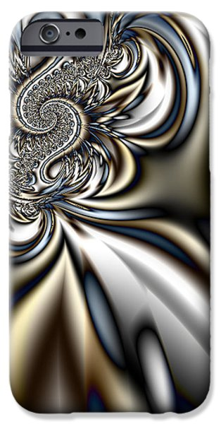Gina Manley iPhone Cases - Colorful Fractal Spiral   iPhone Case by Gina Lee Manley