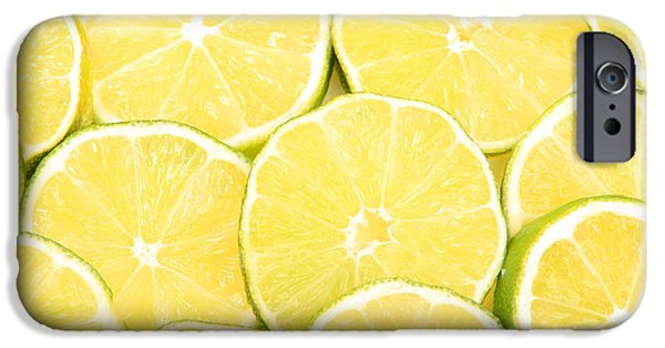 Lime iPhone Cases - Colorful Limes iPhone Case by James BO  Insogna