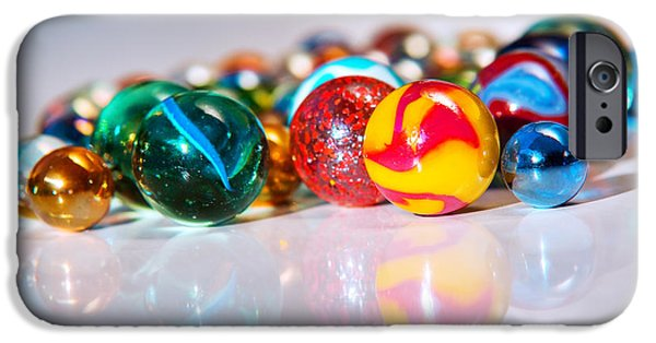 Diversity iPhone Cases - Colorful Marbles iPhone Case by Carlos Caetano