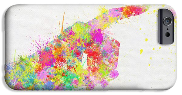 Shape iPhone Cases - Colorful Painting Of Hand Pointing Finger iPhone Case by Setsiri Silapasuwanchai