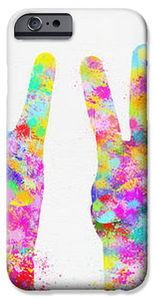 colorful painting of hands number 0-5 iPhone Case by Setsiri Silapasuwanchai