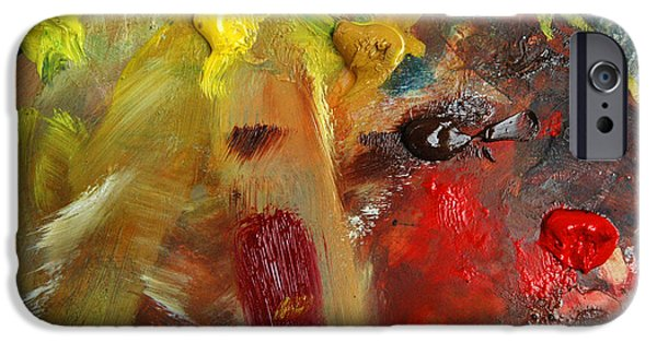 Painter Photographs iPhone Cases - Colorful palette of an artist iPhone Case by Matthias Hauser