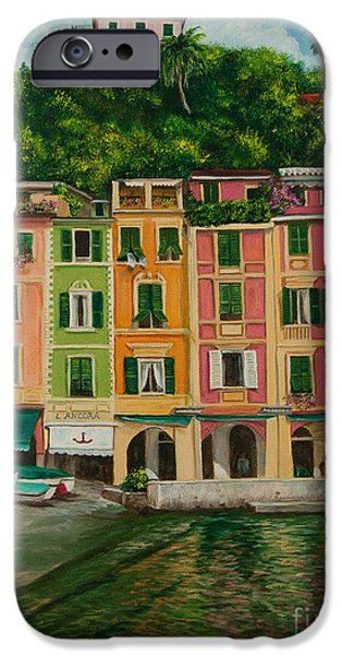 Colorful Portofino iPhone Case by Charlotte Blanchard