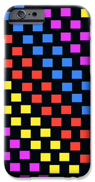 Louisa iPhone Cases - Colorful Squares iPhone Case by Louisa Knight