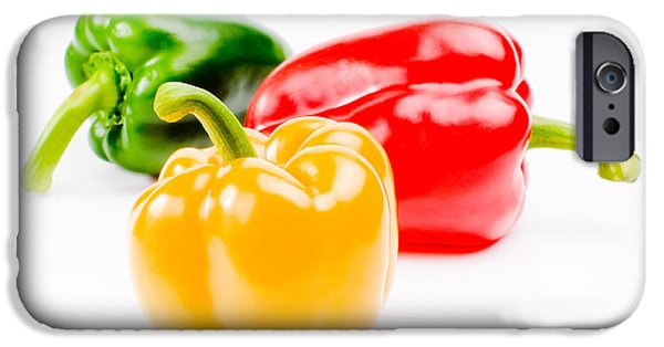 Chilli iPhone Cases - Colorful Sweet Peppers iPhone Case by Setsiri Silapasuwanchai
