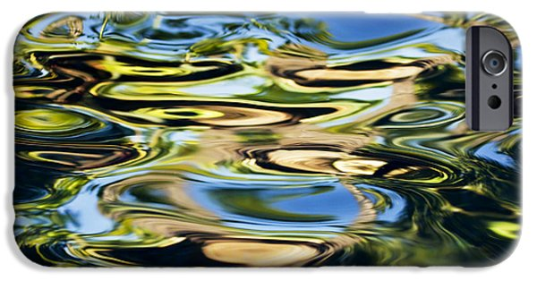 Oil Slick iPhone Cases - Colorful Water Ripples iPhone Case by Dave Fleetham - Printscapes