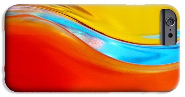 Abstract Movement iPhone Cases - Colorful Wave iPhone Case by Carlos Caetano