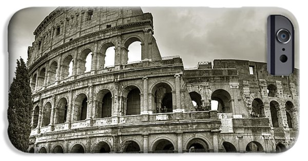 Carriages iPhone Cases - Colosseum  Rome iPhone Case by Joana Kruse
