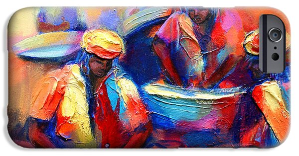 Vivid Colour Paintings iPhone Cases - Colour Pan iPhone Case by Cynthia McLean