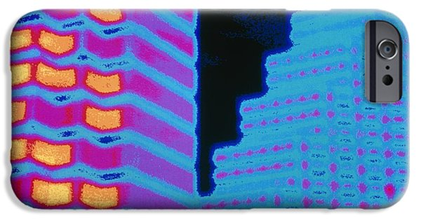 Office Block iPhone Cases - Colour Thermogram Of Two Office Buildings iPhone Case by Pasieka